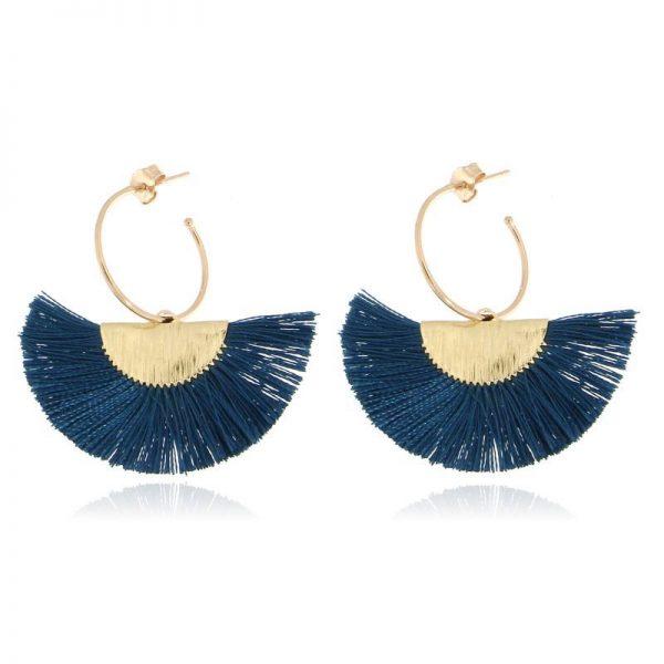 orecchini ventaglio blu