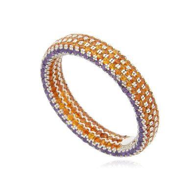 anello veretta pave' bicolor arancio viola