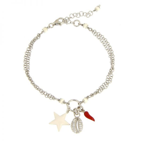 bracciale summer charms rodio