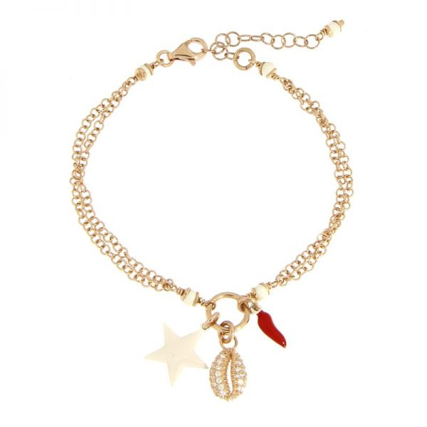 bracciale summer charms rosa