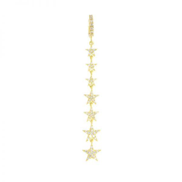 mono orecchino stelle dorato