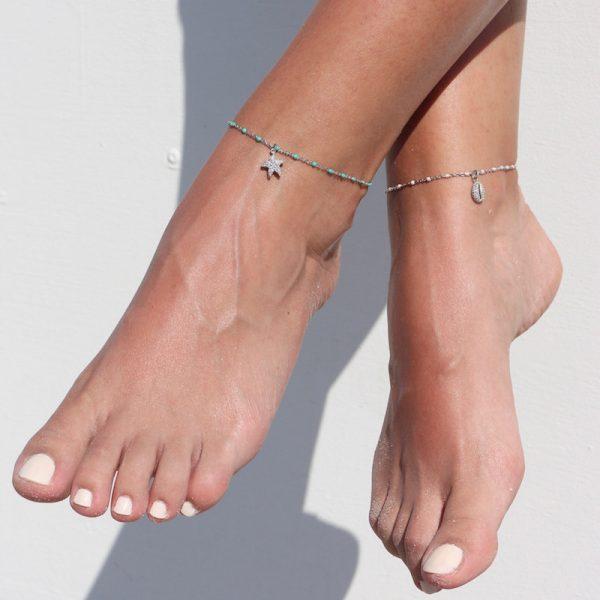 cavigliera argento925 Gialloro