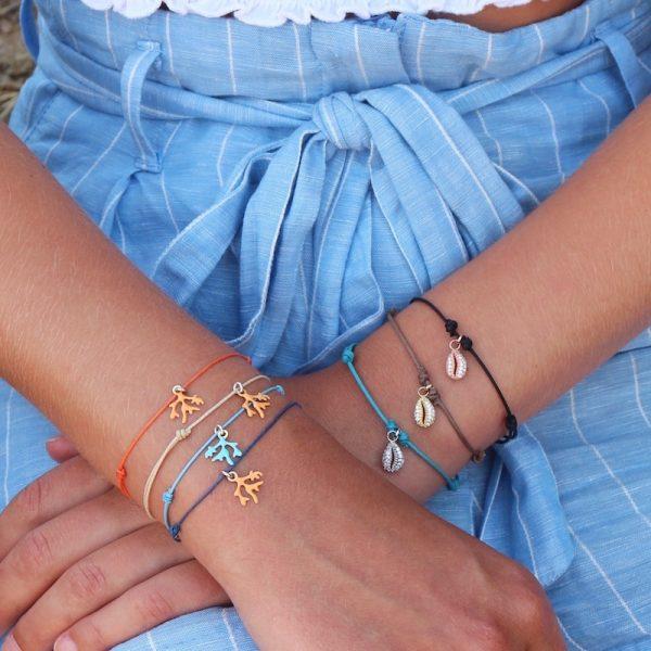 bracciale cordino indossato