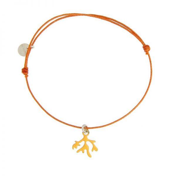 BRACCIALE CORDINO rametto corallo arancione