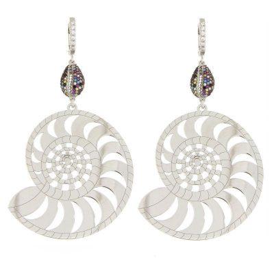 orecchini Nautilus argento 925