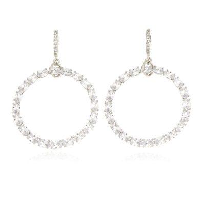 orecchini cerchio cristalli