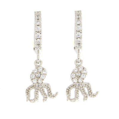 orecchini polipetto argento 925