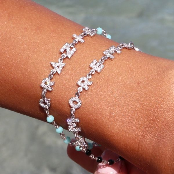 bracciale rosario amore mio indossato