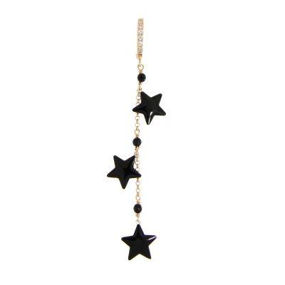 mono orecchino tre stelle smaltate