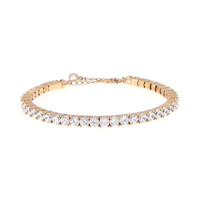 bracciale tennis semirigido dorato oro rosa
