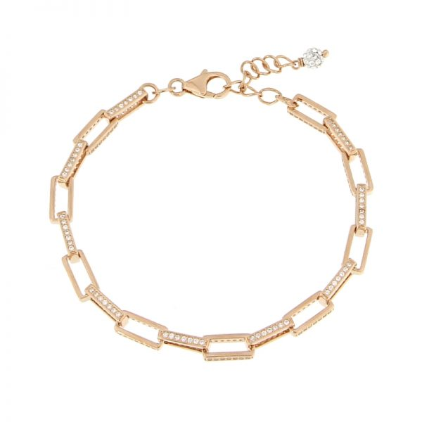bracciale catena rettangolare