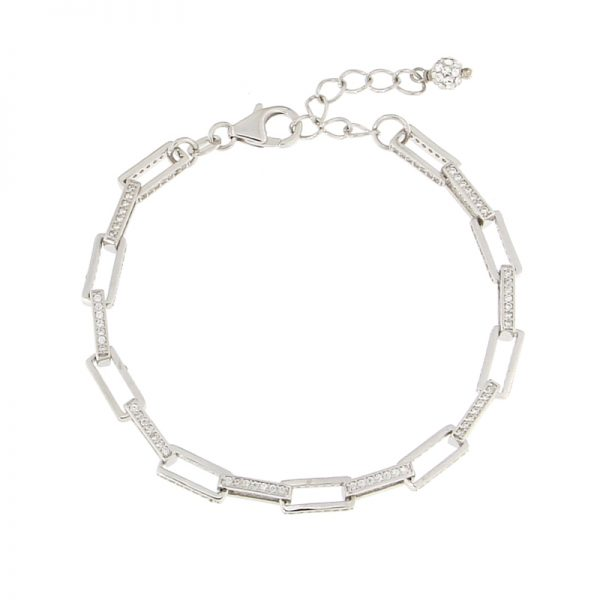 bracciale catena rettangolare Argento925