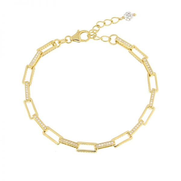 bracciale catena rettangolare dorato