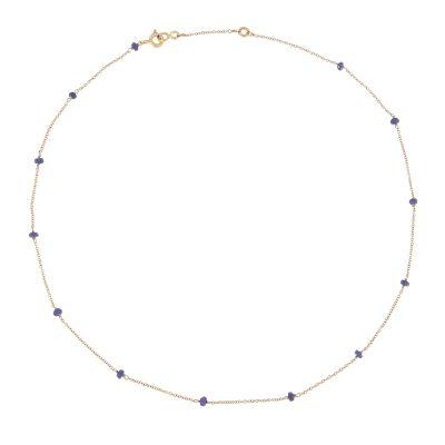 Girocollo in Oro 18kt e zaffiri blu