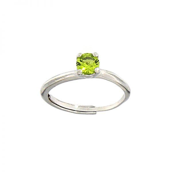 Anello cristallo mini verde