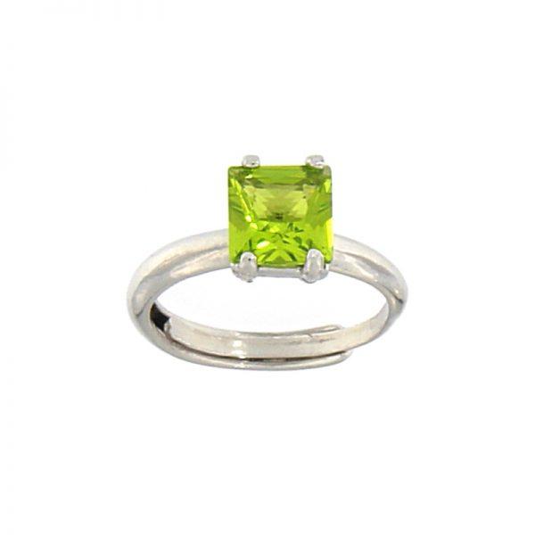 Anello cristallo verde