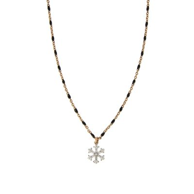 Girocollo rosario fiocco di neve