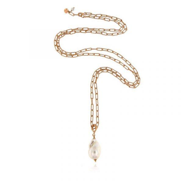 Collana lunga perla barocca