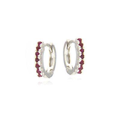 orecchini cerchietti rubini