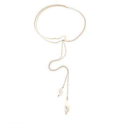 Collana Lariat perle barocche